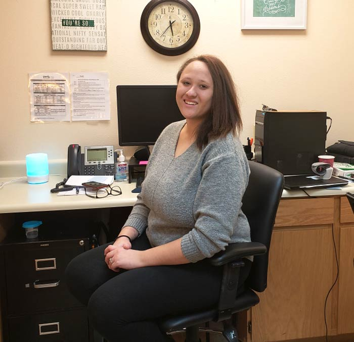 Corinne Harris in her office at Healthy Minds.